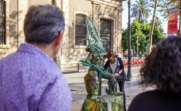 Los Angeles Rambla, obcy Zdjęcia Royalty Free