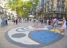 Los Angeles Rambla w Barcelona, Hiszpania Fotografia Royalty Free