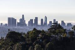 Los Angeles ranku linia horyzontu i wzgórze widok zdjęcia stock
