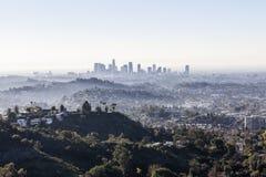 Los Angeles ranku mgła Obrazy Royalty Free
