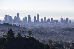 Los Angeles ranku pejzażu miejskiego widok obrazy stock