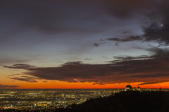 Los Angeles Red Sunset Cityscape Royalty Free Stock Photos