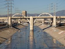 Los Angeles River. The scenic and beautiful Los Angeles River Stock Photo