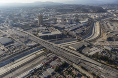 Los Angeles River Aerial Boyle Heights Stock Photo
