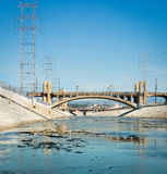 Los Angeles River, California Stock Images