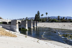 Los Angeles River at Glendale Bl Royalty Free Stock Photos
