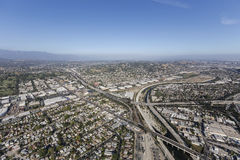 Los Angeles River at the Glendale Freeway Royalty Free Stock Photo