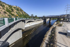 Los Angeles River at Golden State 5 Freeway Royalty Free Stock Images