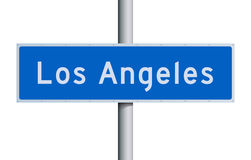 Los Angeles road sign Stock Images