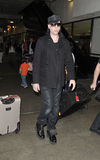 LOS ANGELES- Rocker Marilyn Manson is seen at LAX Royalty Free Stock Image