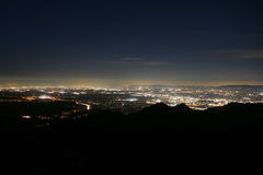 Los Angeles from Rocky Peak Park Royalty Free Stock Images