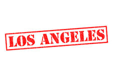 LOS ANGELES. Rubber Stamp over a white background Stock Image