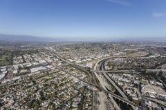 Los Angeles rzeka przy Glendale autostradą zdjęcie royalty free