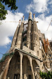 Los Angeles Sagrada Familia Antoni Gaudi w Barcelona, Obraz Royalty Free