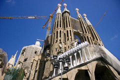 Los Angeles Sagrada Familia Gaudi w Barcelona Obraz Royalty Free