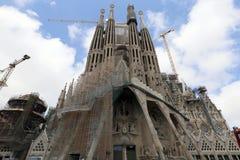 Los Angeles Sagrada Familia, projektujący Antoni Gaudi w Barcelona, obraz stock