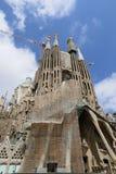 Los Angeles Sagrada Familia, projektujący Antoni Gaudi w Barcelona, zdjęcie stock