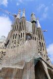 Los Angeles Sagrada Familia, projektujący Antoni Gaudi w Barcelona, Zdjęcie Royalty Free