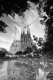 Los Angeles Sagrada Familia w Barcelona Zdjęcia Stock