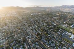 Los Angeles San aéreo Fernando Valley Late Afternoon imagen de archivo libre de regalías