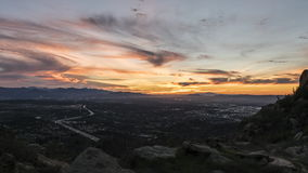 Los Angeles San Fernando Valley Dawn Time Lapse with Zoom Out stock video footage