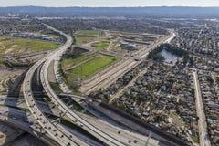 Los Angeles San Fernando Valley Freeway Interchange foto de stock royalty free