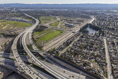 Los Angeles San Fernando Valley Freeway Interchange Royalty Free Stock Photo