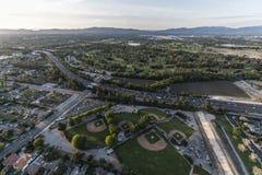 Los Angeles San Fernando Valley Sepulveda Basin Aerial Fotografia de Stock
