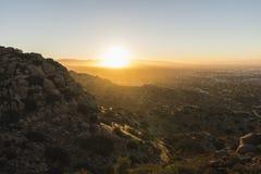 Los Angeles San Fernando Valley Sunrise Royalty Free Stock Images