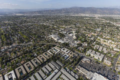 Los Angeles San Fernando Valley View. Aerial view of Burbank and the San Fernando Valley in Los Angeles County, California Stock Image