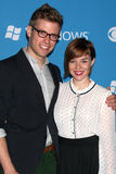Barrett Foa,Renee-Felice Smith Royalty Free Stock Photo
