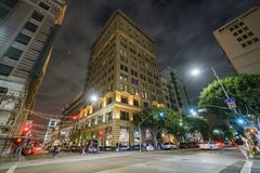 Downtown Los Angeles Art Walk. Los Angeles, SEP 14: Spring street of the famous Downtown Los Angeles Art Walk on SEP 14, 2017 at Los Angeles, California Stock Photography
