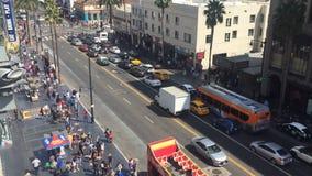LOS ANGELES - September 2016: Hollywood-Weg des Ruhmes mit den Leuten, die vorbei gehen stock video footage
