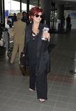 LOS ANGELES Sharon Osbourne is seen at LAX Stock Photography