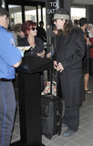 LOS ANGELES: Sharon and Ozzy Osbourne at LAX Royalty Free Stock Photography