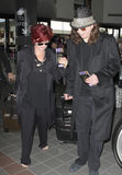 LOS ANGELES: Sharon and Ozzy Osbourne at LAX. LOS ANGELES-JUNE 22: Sharon and Ozzy Osbourne at LAX. June 22nd in Los Angeles, California 2010 Stock Photo