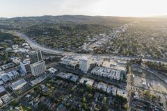 Los Angeles Sherman Oaks San Fernando Valley Aerial Royalty Free Stock Image
