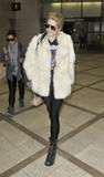 LOS ANGELES -Singer Kesha is seen at LAX Royalty Free Stock Photography
