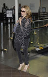 LOS ANGELES - Singer Kylie Minogue is seen at LAX Royalty Free Stock Images