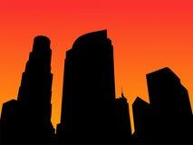 Los Angeles skyline vector illustration