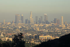 Los Angeles Skyline. At Late Afternoon Stock Photo