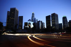 Los Angeles Skyline. Los Angeles downtown skyline at night Royalty Free Stock Photo