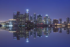 Los Angeles skyline. And reflection Stock Photography