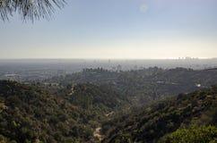 Los Angeles-Skyline in Abstand 6 Stockfotografie