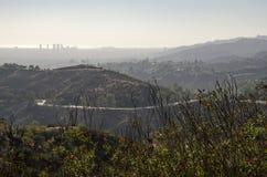 Los Angeles-Skyline in Abstand 3 Lizenzfreies Stockfoto