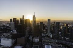 Los Angeles Skyline Aerial Dawn Royalty Free Stock Photos