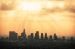 Los Angeles Skyline Royalty Free Stock Photos