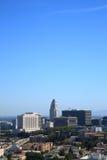 Los Angeles Skyline and City Hall Royalty Free Stock Photo