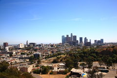 Los Angeles Skyline and City Hall Stock Images