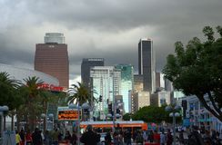 Los Angeles. Skyline from the Convention Center Stock Photo